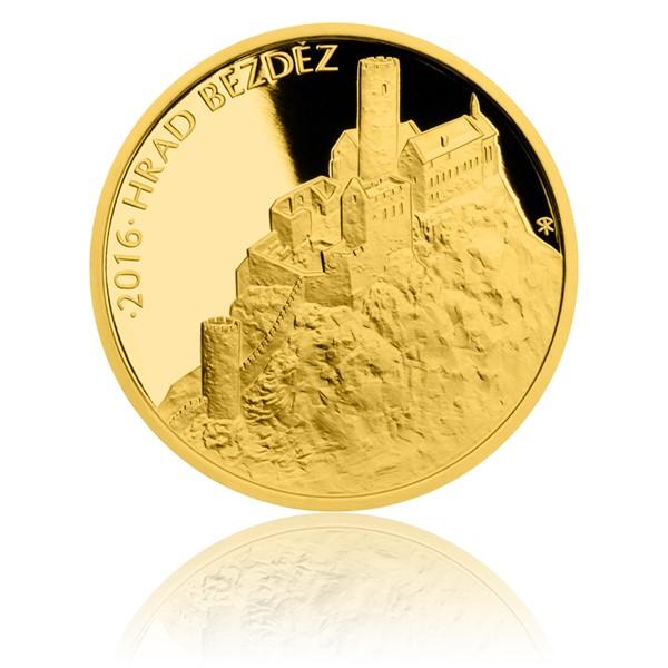 Zlatá mince 5000 Kč 2016 Bezděz proof
