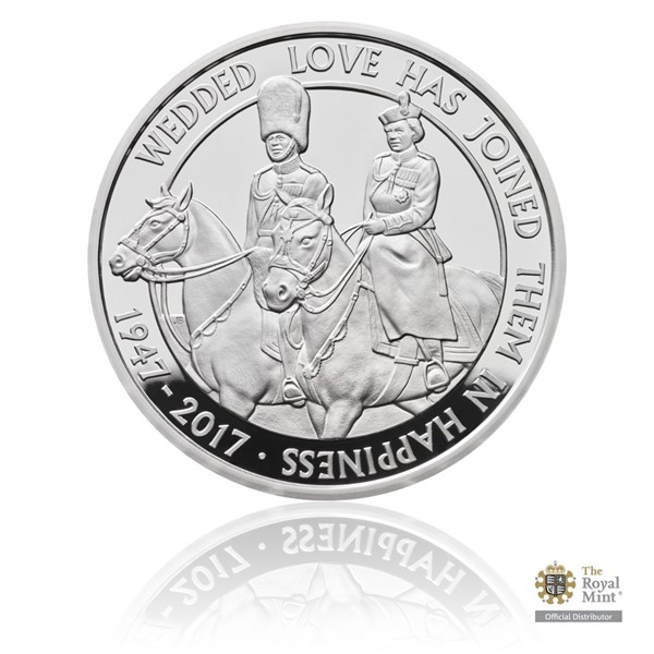 Stříbrná mince Platinová svatba