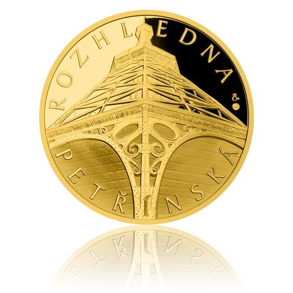 Zlatá uncová medaile Petřínská rozhledna proof
