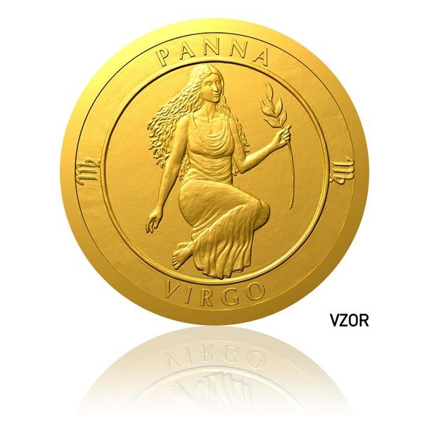 Zlatý dukát Znamení zvěrokruhu - Panna proof