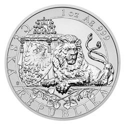 52973ce37 Sada dvou stříbrných uncových investičních mincí Český lev 2018 reverse  proof/stand