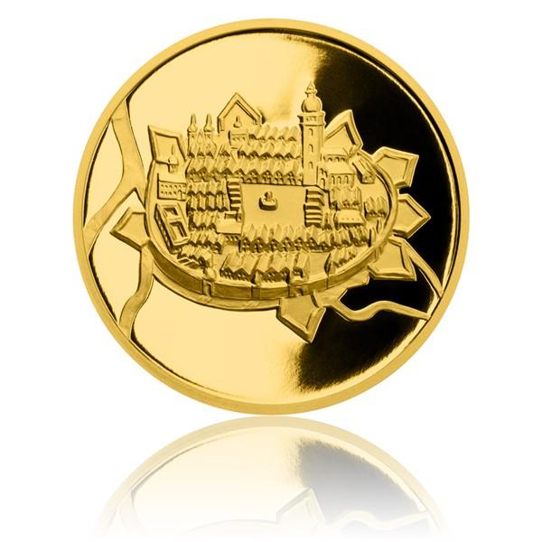 Zlatá půluncová medaile Založení Českých Budějovic proof