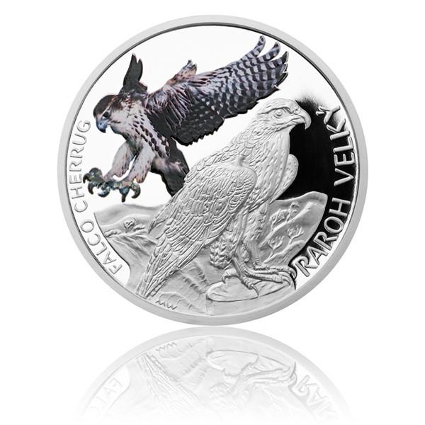 Stříbrná mince Ohrožená příroda - Raroh velký proof