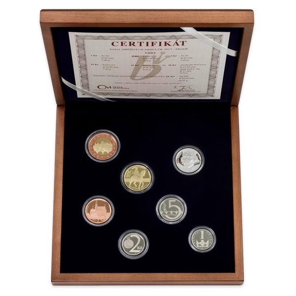 Sada oběžných mincí 2017 proof - dřevěná etue