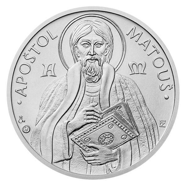 Stříbrná medaile Apoštol Matouš stand