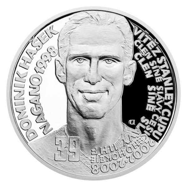 Stříbrná mince Legendy čs. hokeje - Dominik Hašek proof