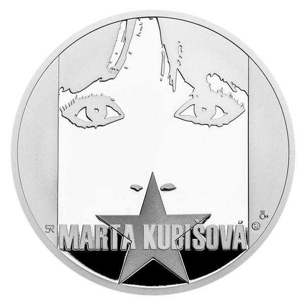 Stříbrná medaile Marta Kubišová proof