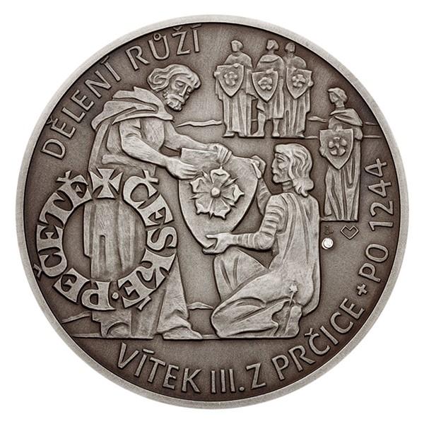Stříbrná medaile České pečetě - Vítek III. z Prčice a Plankenberka stand