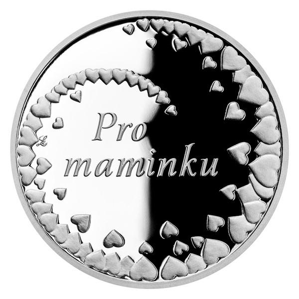 Stříbrná medaile Pro maminku proof