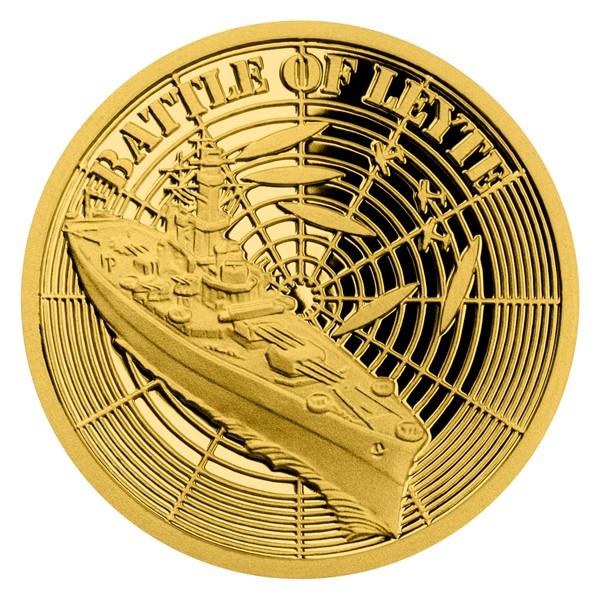 Zlatá mince Válečný rok 1944 - Bitva u Leyte proof