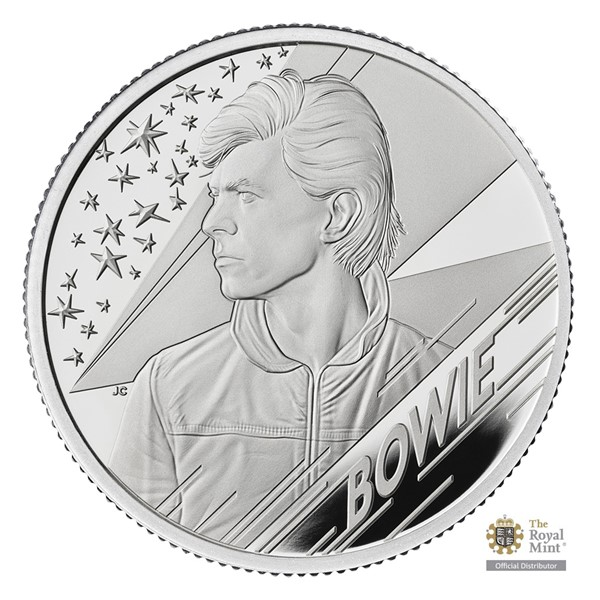 Stříbrná mince 1/2 Oz David Bowie UK 2020 proof