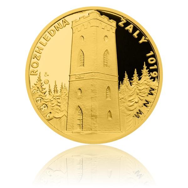 Zlatá uncová medaile Rozhledna Žalý proof