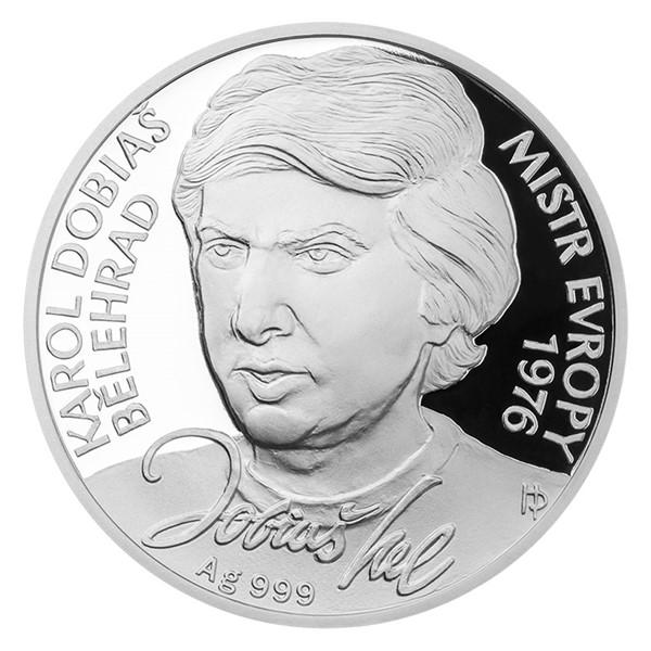 Stříbrná mince Karol Dobiaš proof
