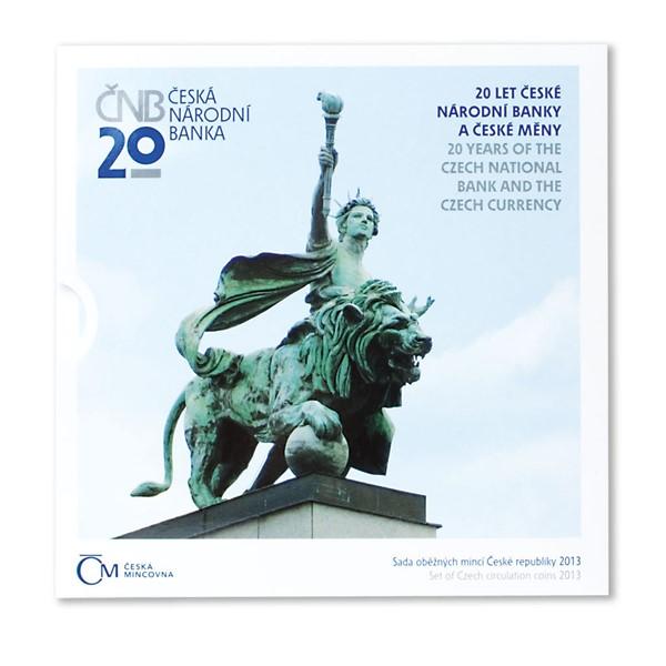 Sada oběžných mincí 20 let ČNB a české měny 2013 stand