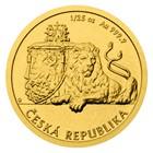 59a699e93 Zlatá 1/25 oz investiční mince Český lev 2018 stand | Česká mincovna