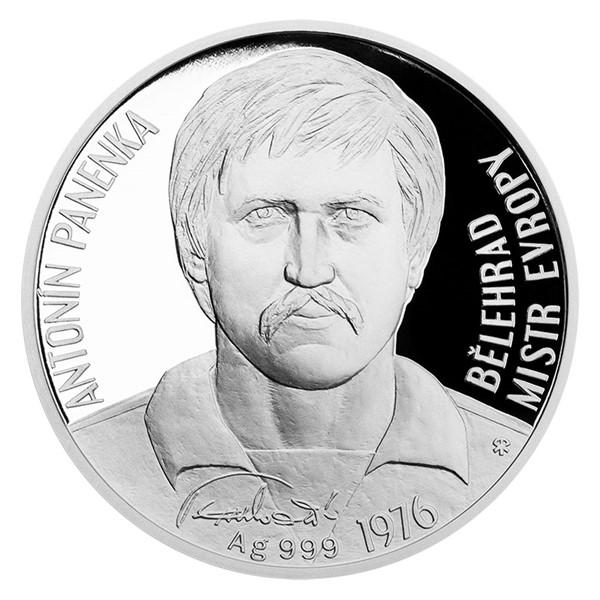 Stříbrná mince Antonín Panenka proof