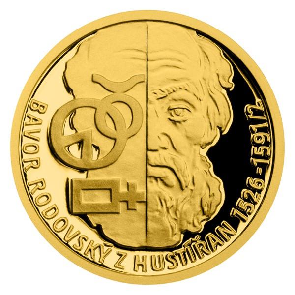 Zlatá mince Alchymisté - Bavor Rodovský z Hustířan proof