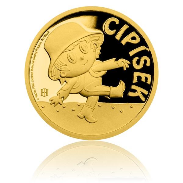 Zlatá mince Cipísek proof