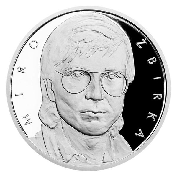 Stříbrná medaile Miro Žbirka proof