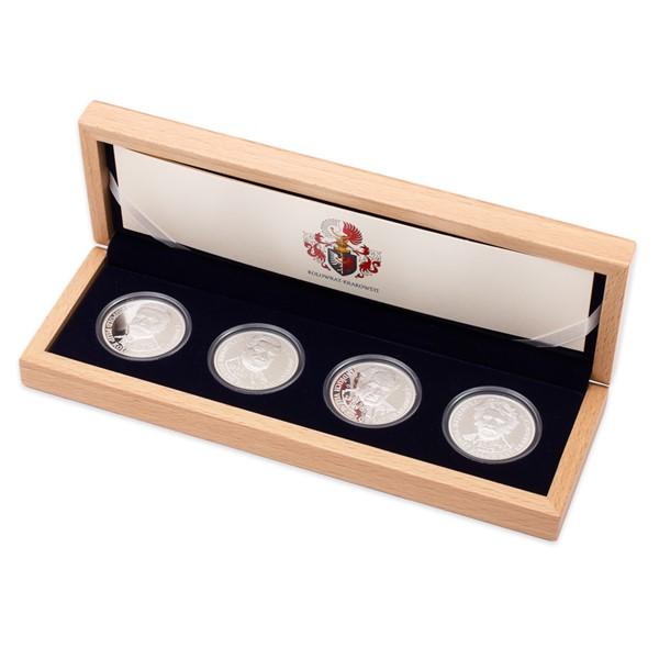 Sada čtyř stříbrných medailí Šlechtický rod Kolowrat-Krakowských proof