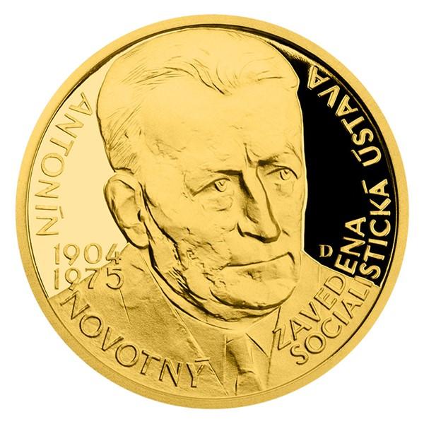 Zlatý dukát Českoslovenští prezidenti - Antonín Novotný proof