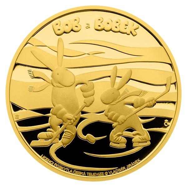 Zlatá uncová mince Bob a Bobek proof