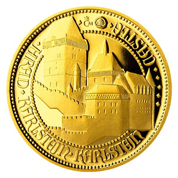 Zlatý dukát Doba Karla IV. - Karlštejn proof