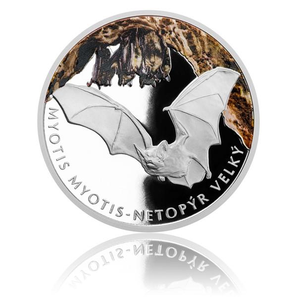 Stříbrná mince Ohrožená příroda - Netopýr velký proof