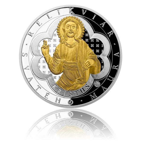 Sada dvou stříbrných mincí Relikviář svatého Maura proof