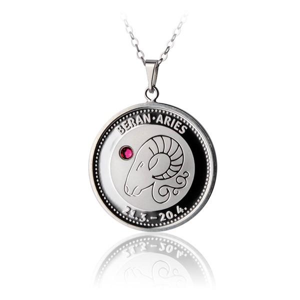 Česká mincovna 30718-711 Stříbrný přívěsek znamení zvěrokruhu Beran proof