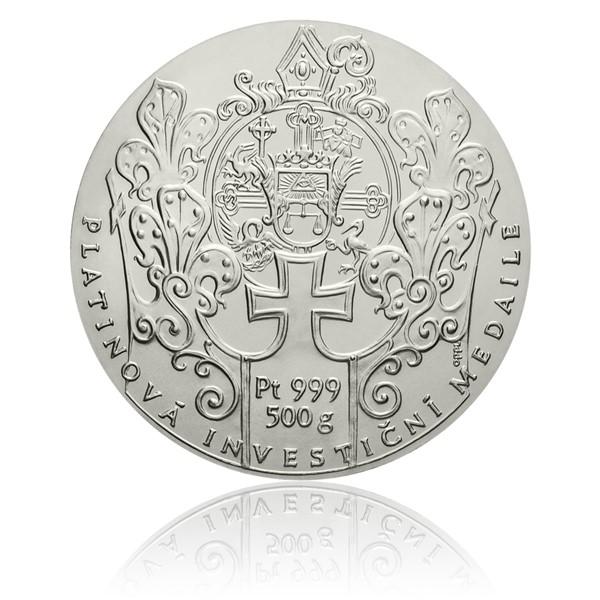 Platinová investiční medaile Klášter Zlatá koruna stand