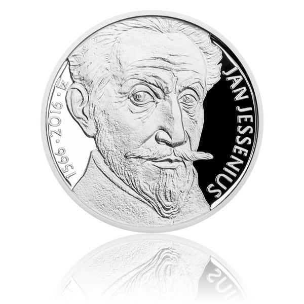 Stříbrná mince 200 Kč 2016 Jan Jessenius proof