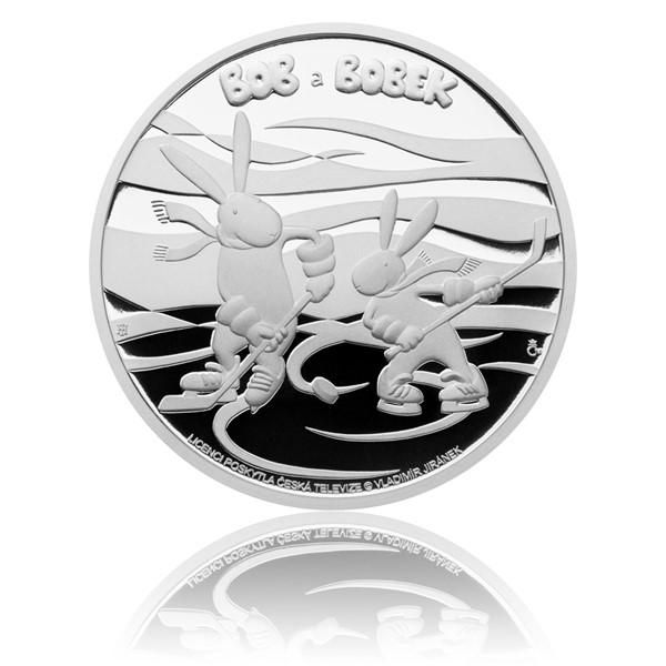 Stříbrná mince Bob a Bobek proof