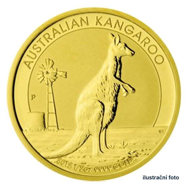Zlatá investiční mince 1/2 Oz 50 AUD Austrálie - klokan proof